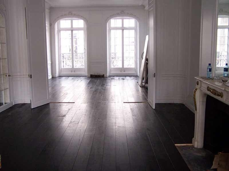 Black Wood Floor Design, Black Hardwood Flooring Choice