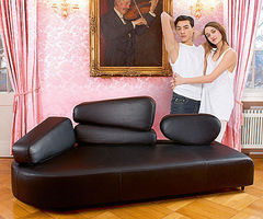 Original Design Leather Sofa