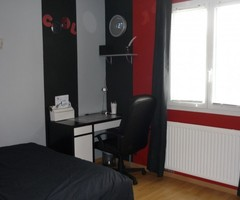 Teen Room Black Red Modern (France)