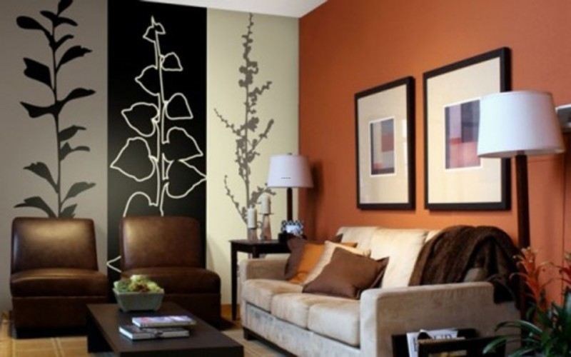 Wall Decoration With Colour : Inspirational modular wall paint decoration design