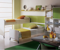 17 Modern Kid Bedroom Designs By Italian Maker Mariani: Kids Room Bunk Bed And Loft