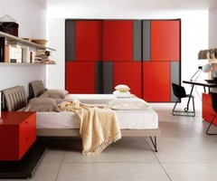 Awesome Impressive Red And Black Teen'S Room