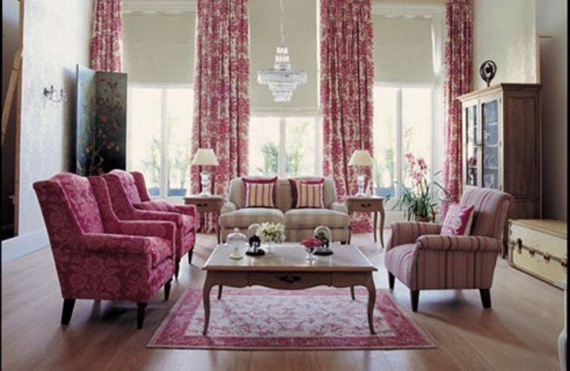 Home Living Design, Harlequin Living Room Design Interior