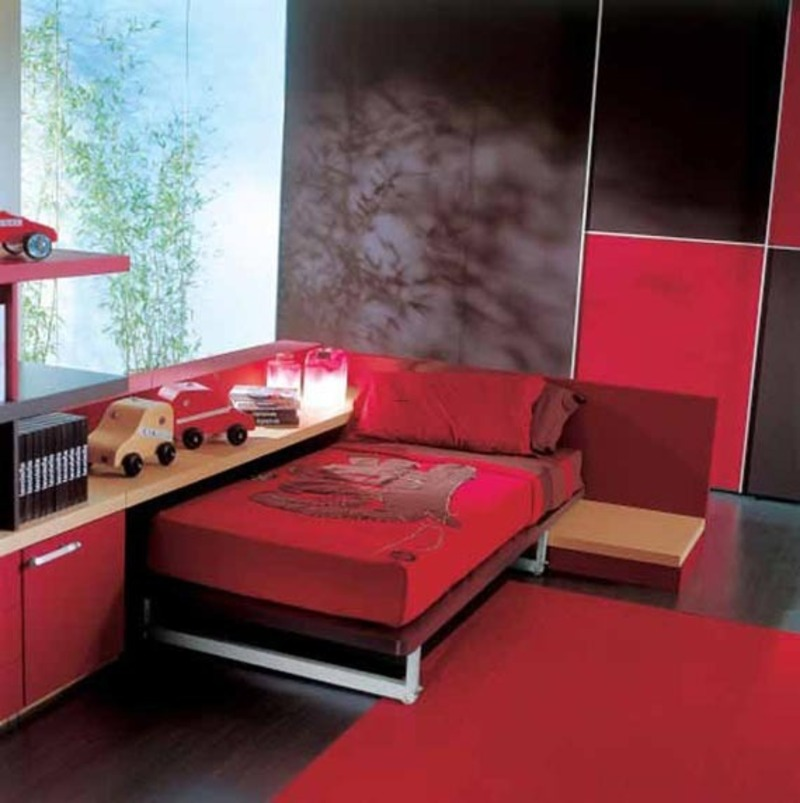 Red And Black Bedrooms For Girls Images