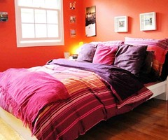 Fresh Orange Bedroom Wall