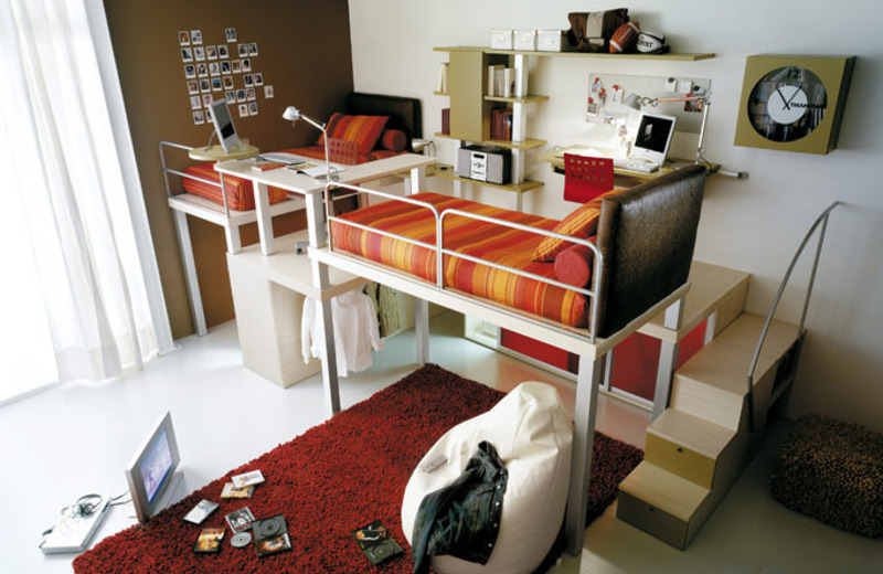 Kids Bunk Bed Loft Design, 10 Minimalist Loft And Bunk Beds For Kids And Teenagers: Cool Bunk Bed And Loft Design For Kids And Teens