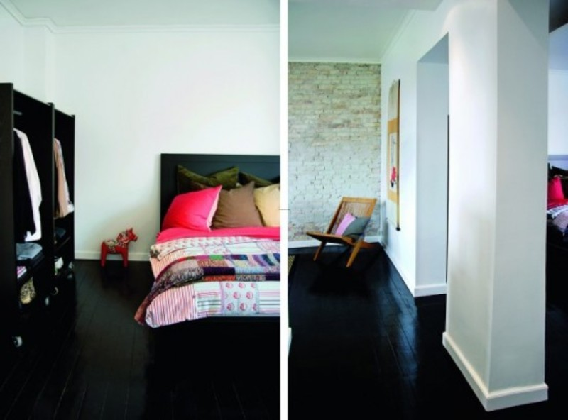 Black Wood Floor Design, Modern Small Apartment With Black Glossy Wood Flooring Design Modern Small Apartment With Black Glossy Wood Flooring Design 6 – Modern Architecture Concept