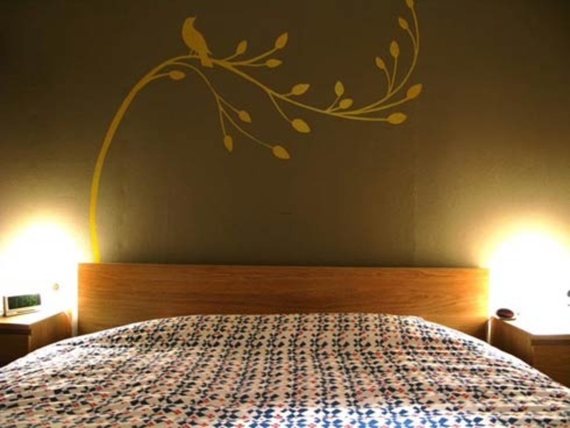 Modern Wall Paint Ideas, Modern Design Painting Wall Murals For Bedroom Painting Wall Murals Gold Bird – Studio Apartment Design