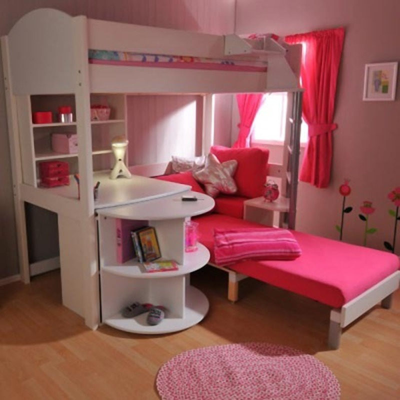 Kids Bunk Bed Loft Design, Cool Teenager Room With Storage Bunk Beds And Loft Beds