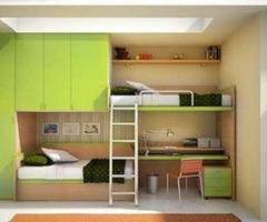 Youth Bedroom With Space Saving Bunk Bed