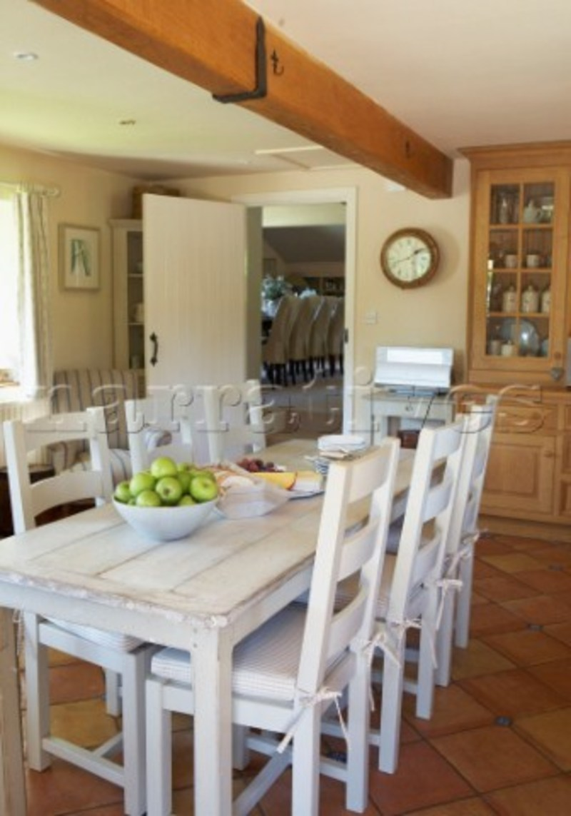 White Farmhouse Table And Chairs Design Bookmark 15289