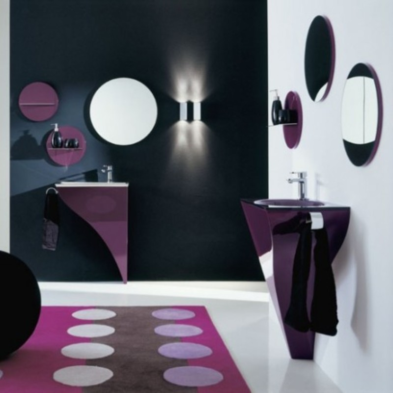 Tiny Modern Bathroom, Best Suitable Italian Furniture For Small Bathroom Design Ideas