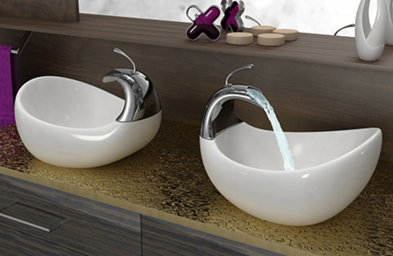 Bathroom Sink Design, Glass Bathroom Vessel Sink  Designs And Remodeling Ideas
