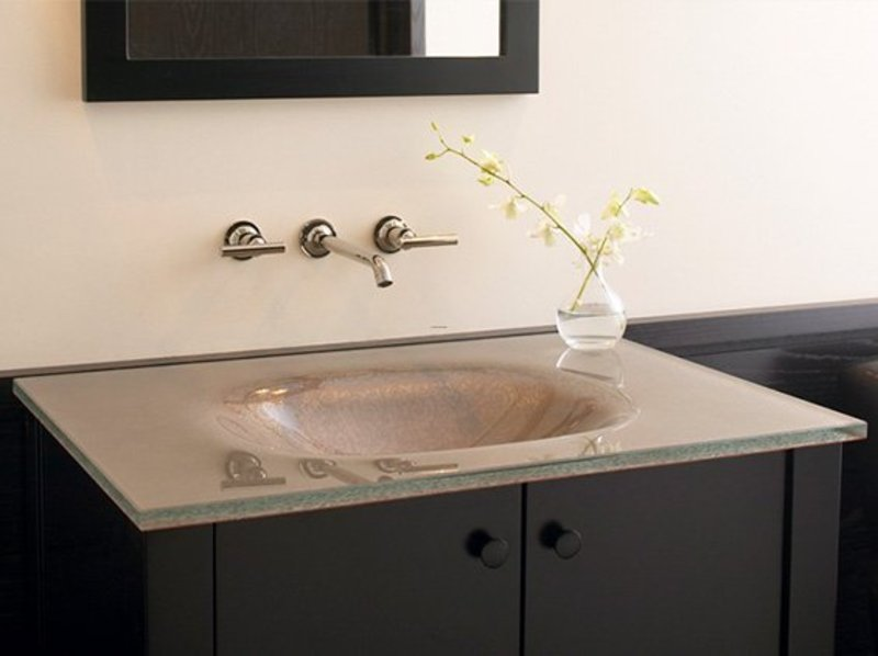 Bathroom Sink Design, Modern Glass Bathroom Sinks From Kohler