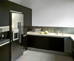 Stylish Black Kitchen