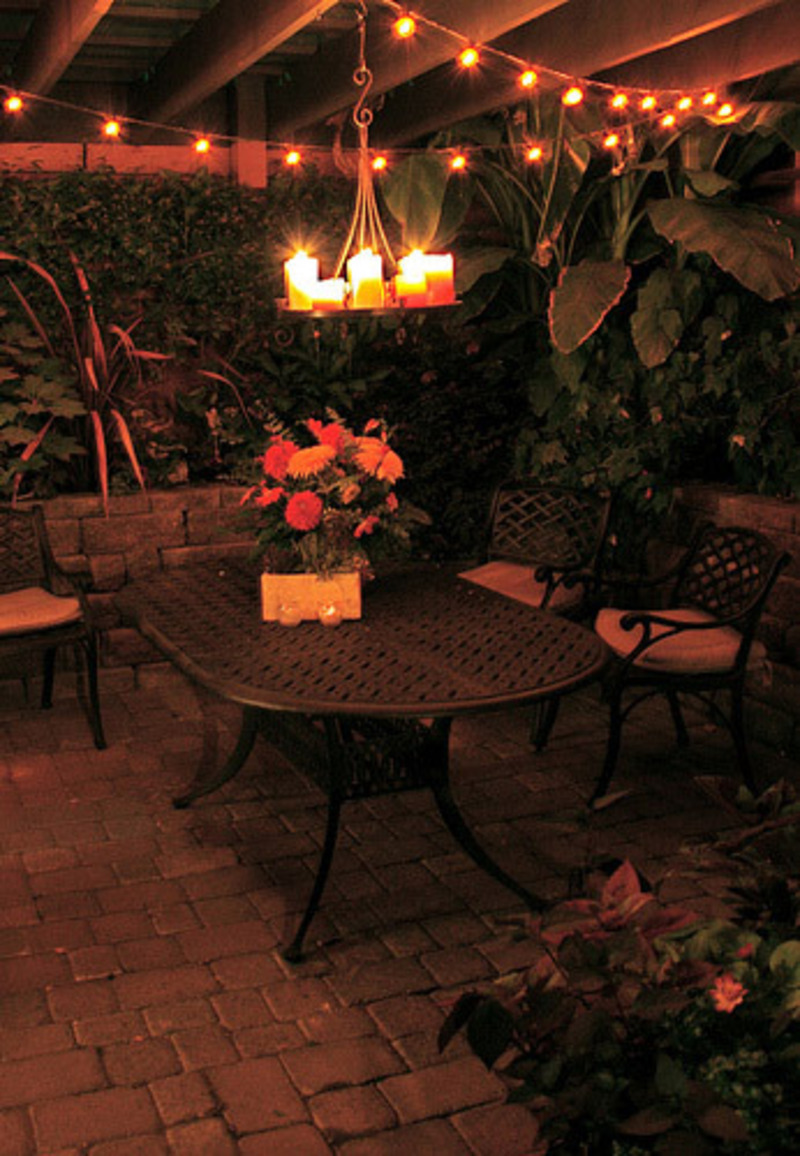Outdoor Patio Lights, Great Outdoor Decorating Ideas In Beautiful Patio Design Pictures