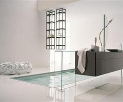 Luxury And Elegant Italian White Bathroom Design Ideas