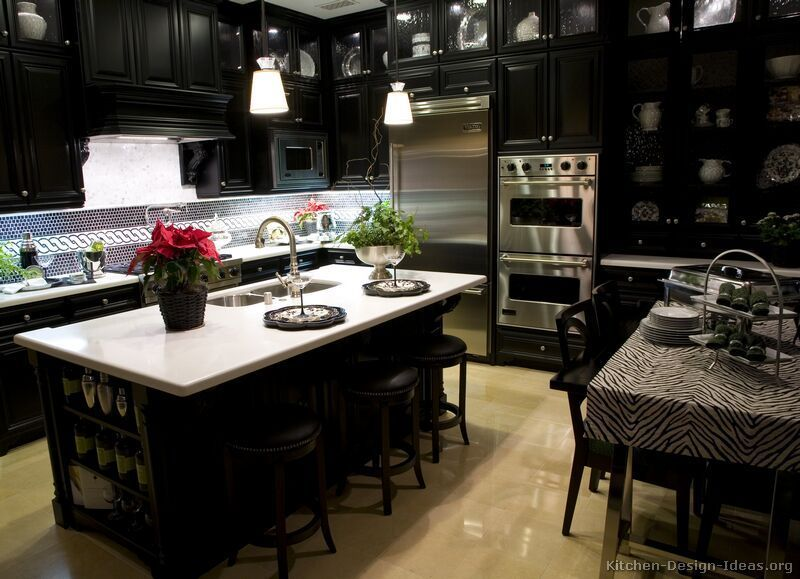 Black Kitchen Design, Best Of Kitchen Ideas With Black Cabinets Decoration