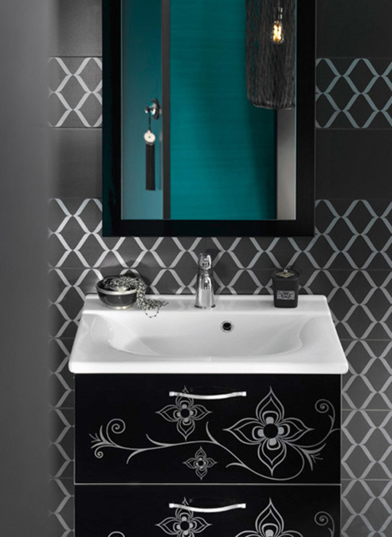 Bathroom Sink Design, Moroccan Bathroom Sink With Storage Designs