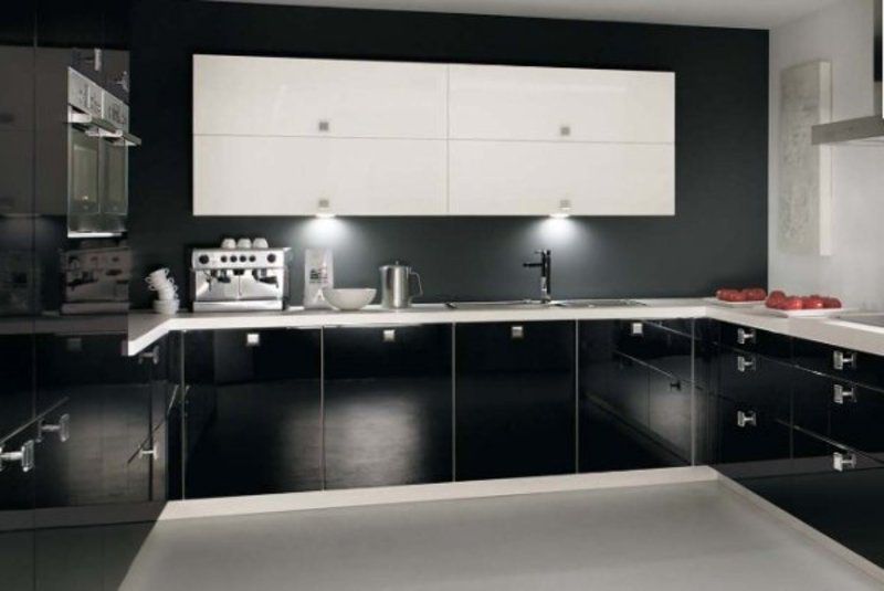 Black Kitchen Design, New Conceptual Kitchen Ideas Black Design Interior