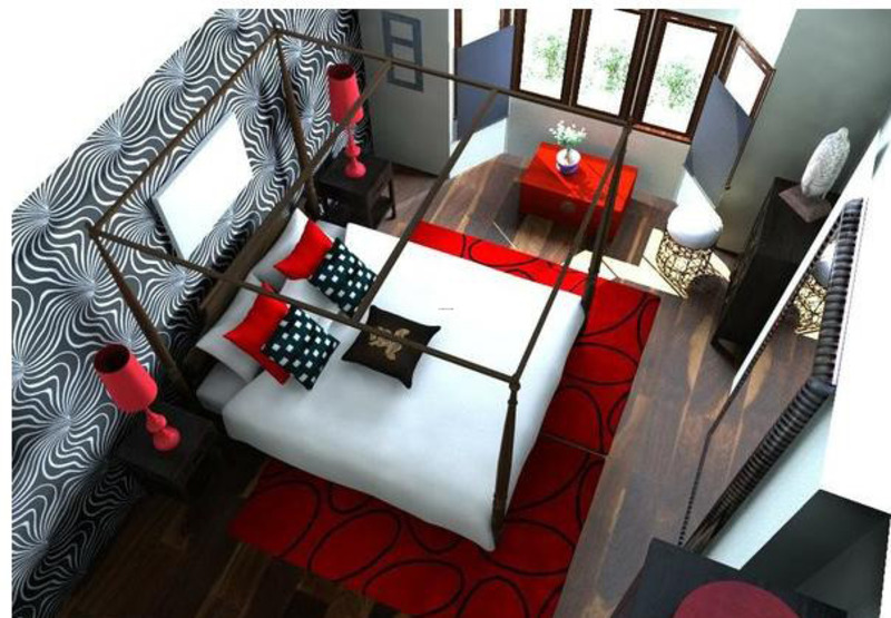 Red White Black Bedroom, Just My Imagination – Bold Bedroom