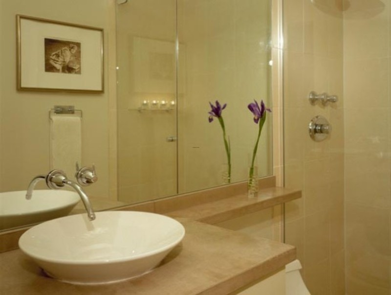 Modern design small bathroom inspiration from hgtv for Inspirational small bathrooms