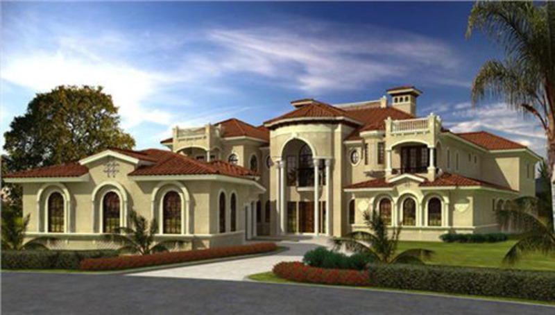 Magnificent And Luxury Mediterranean House Style Plans