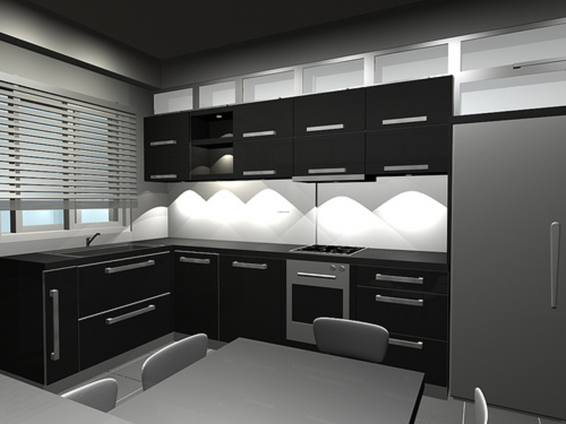Black Kitchen Design, Black