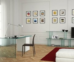Modern Home Office Design Ideas With Elegant Glass Tables