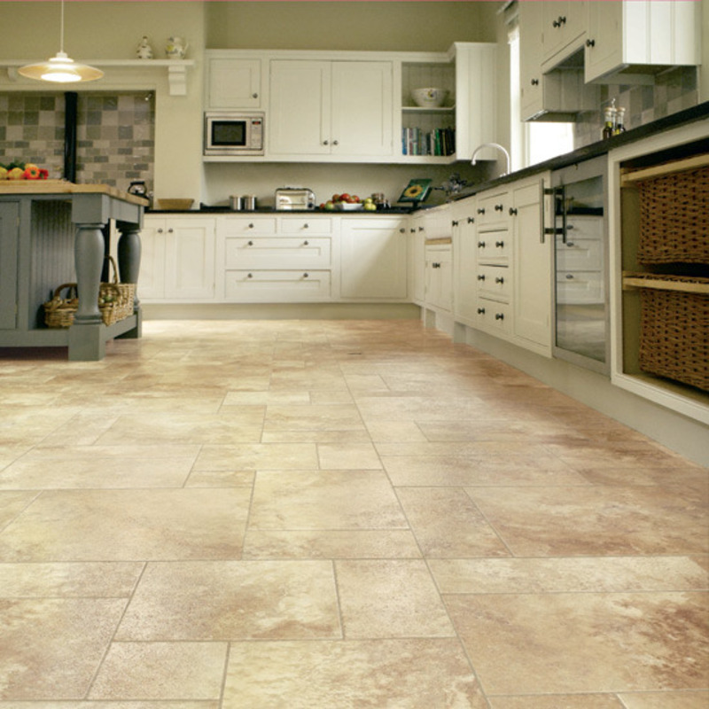 Awesome kitchen floor covering for kitchen decorating for Pictures of floor tiles for kitchens