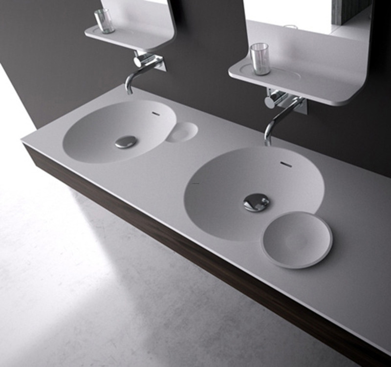 Bathroom Vanity Sinks, Bathroom Vanity Sink In Bright And Clean Design By Dna   / Design Concept Ideas