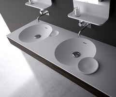 Bathroom Vanity Sink In Bright And Clean Design By Dna   / Design Concept Ideas