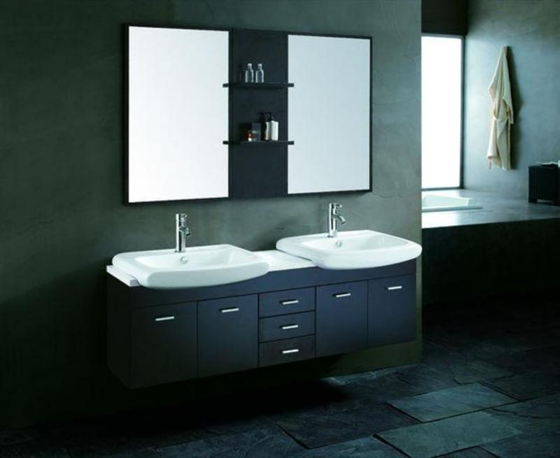 Twin Bathroom Sinks : Bathroom Vanity Sinks, How To Plan For A Double Sink Bathroom Vanity