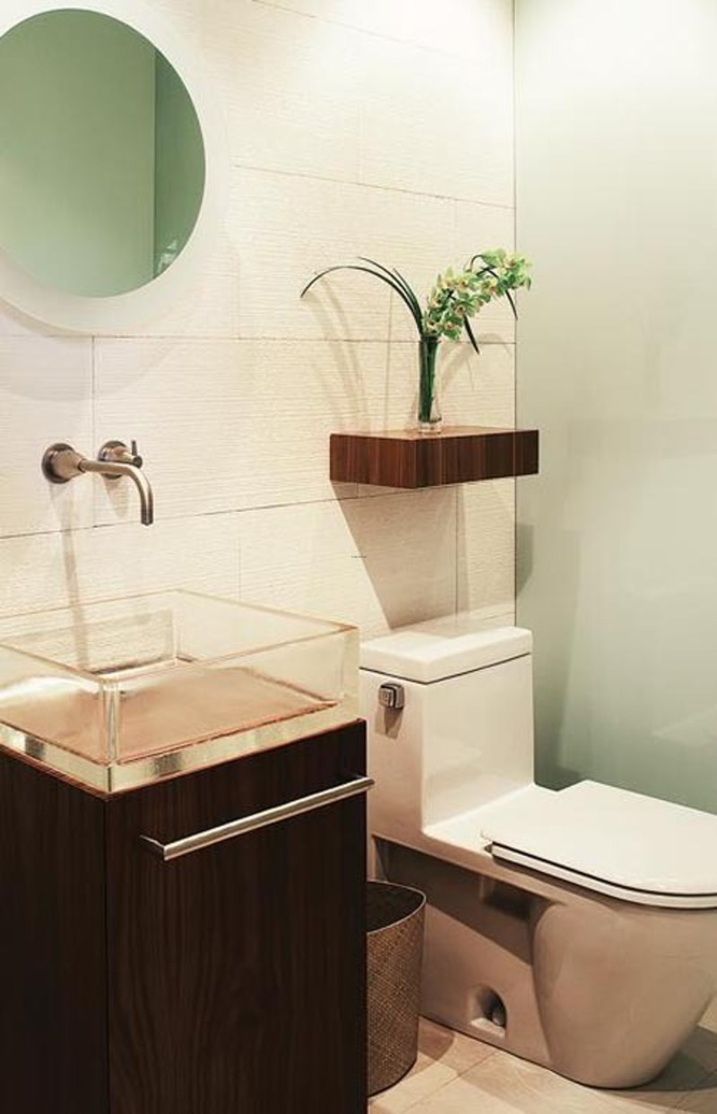 Tiny Modern Bathroom, Small Bathroom Decorating Inspiration