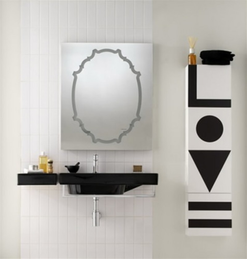 Black And White Elegant Bathroom Vanity Sinks / design bookmark #