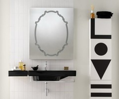 Black And White Elegant Bathroom Vanity Sinks