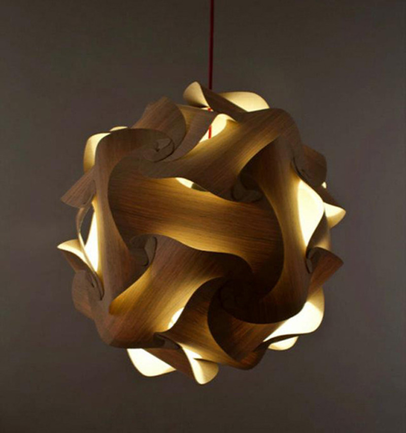 Pendant Lamp Modern, Complicated Structure Wooden Pendant Lamp By Naos Exotic Look Contemporary Pendant Lamp – Interiorshowoff.Com
