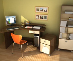 Minimalist Corner Workspace For Small Office Design Idea