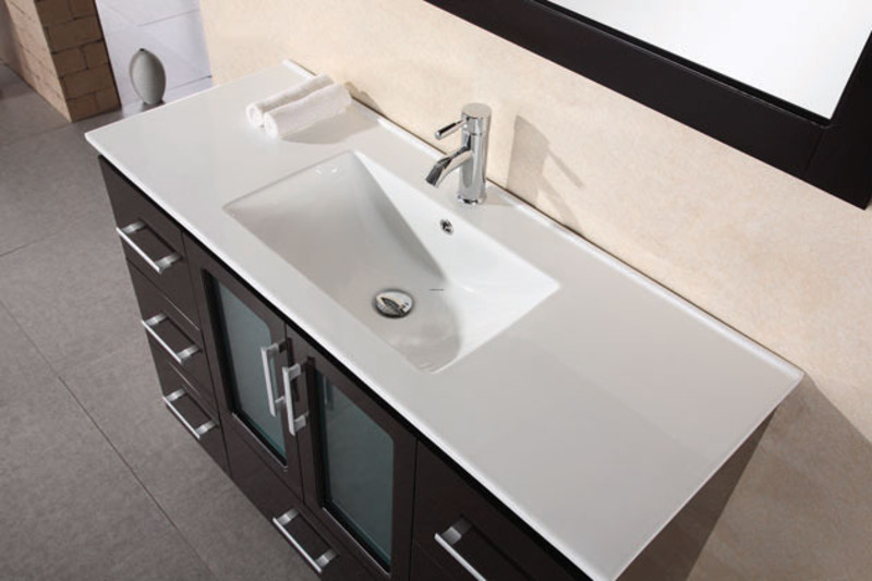 "Bathroom Vanity Sinks, Stanton ""48"" Modern Bathroom Vanity Drop Sink B48"