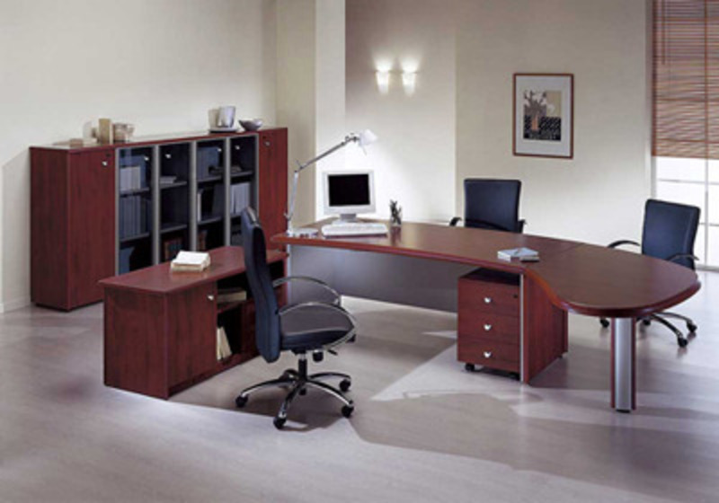Modern wooden office design bookmark 15566 for Small office entrance design