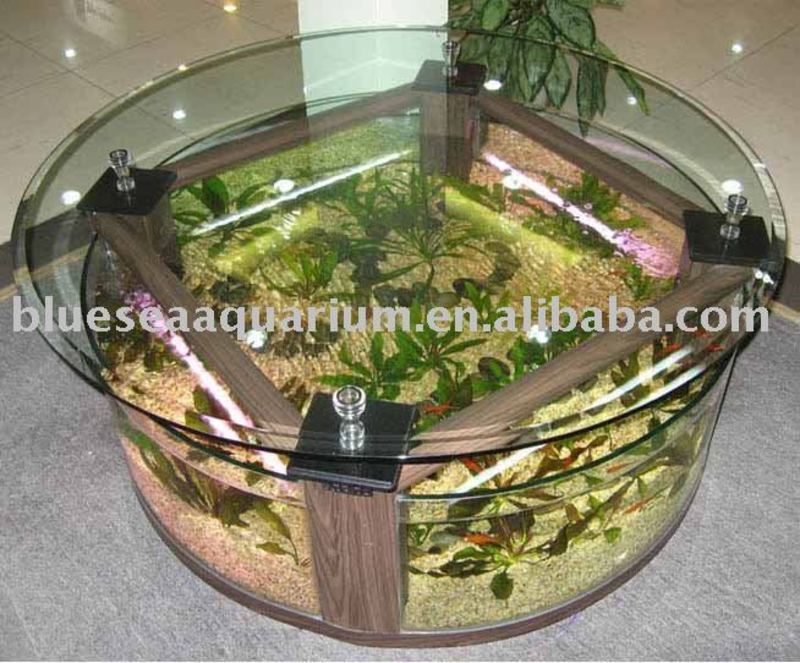 aquarium r servoir de poissons de table basse aquarium de table basse approbation de la ce. Black Bedroom Furniture Sets. Home Design Ideas