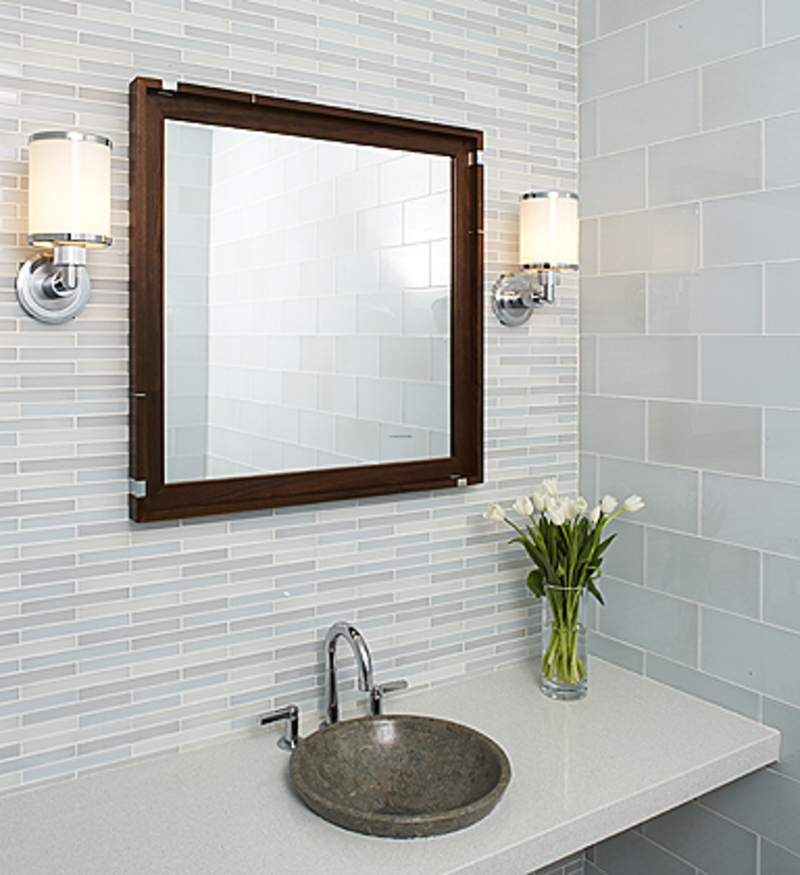 Modern Bathroom Tiles, Attractive Modern Design Of White Bathroom Tiles Ideas