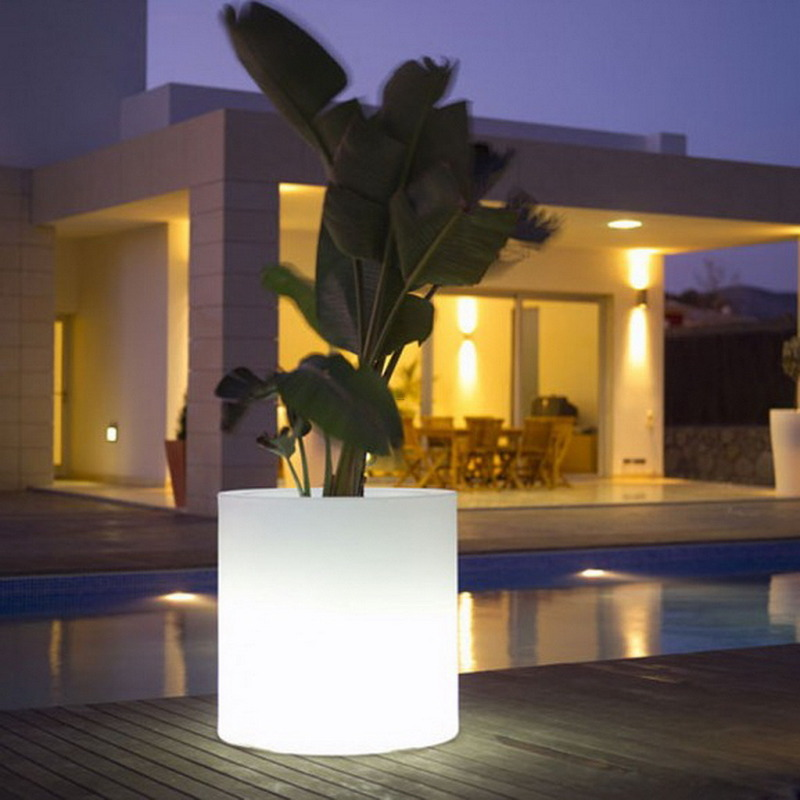 Outdoor Modern Lighting, Unique Inspiration Modern Outdoor Lighting Flower Pots For Home Garden Decorations