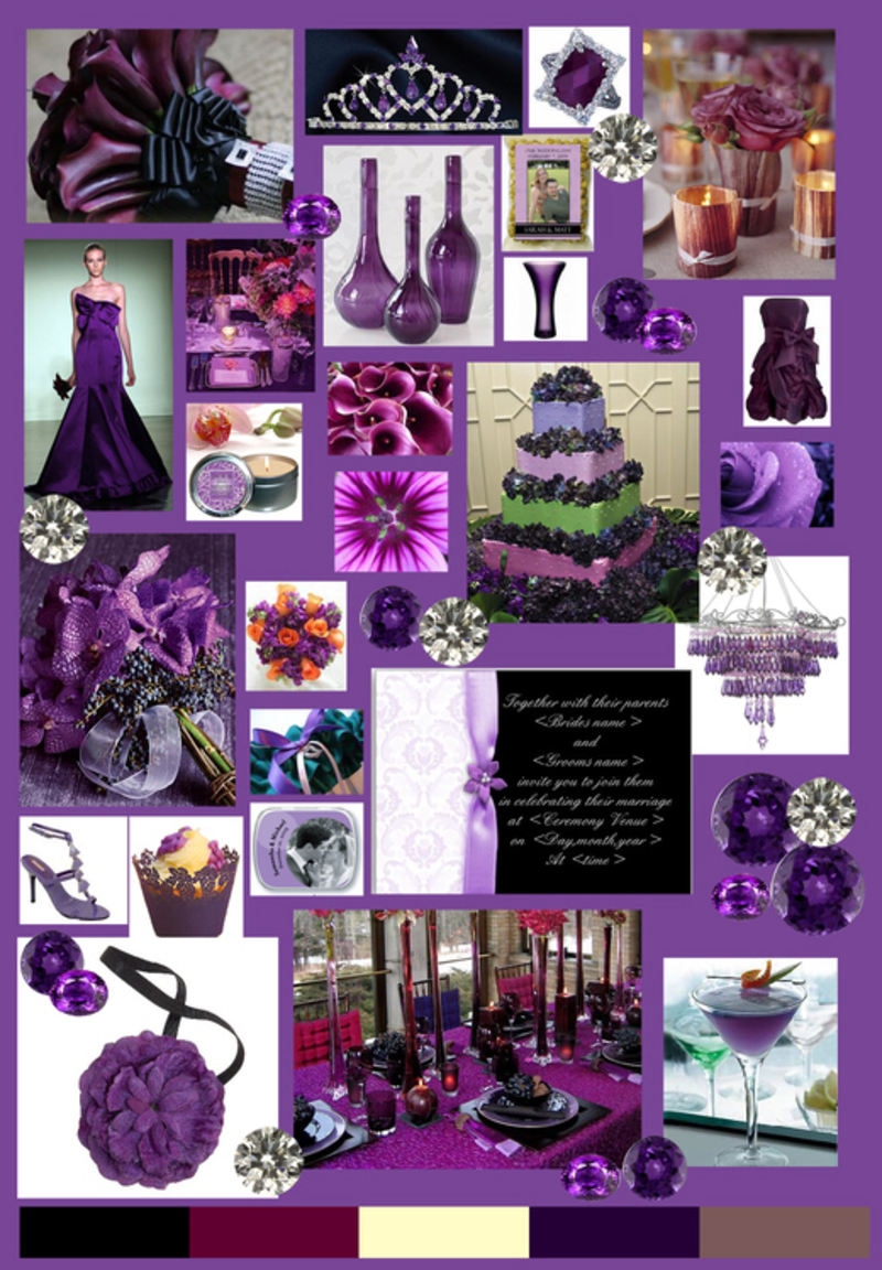 Purple Wedding Decorations, Purple Weddings Decorations Ideas Pictures