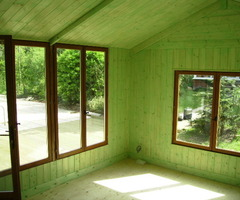 Garden Office, Log Cabin, Chalet, Summerhouse, Put