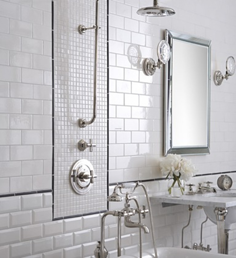 Beautiful tile for traditional bathroom tiles design for Modern bathroom wall tile designs