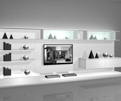 White Wall Mounted Modern Tv Cabinets For Small Living Room Design 2 By Rimadesio