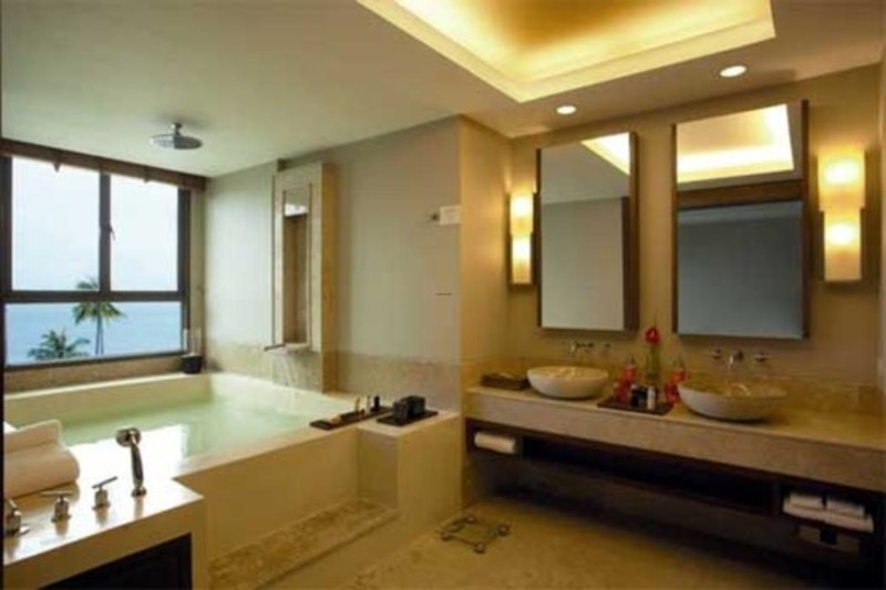 Hotel Interior Design, Large Bathroom Of Shasa Hotel