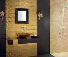 Luxury Bathroom Tiles Gold Color Design