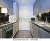 Modern Silver Kitchen Witch Black Tiles Stock Photo 38475265 : Shutterstock